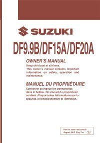Suzuki Dt 15 Owners Manual