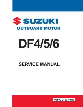suzuki df4 df5 df6 service manual 99500 91j03 01e rh brownspoint com Suzuki 6Hp Boat Motor suzuki df6 outboard owners manual