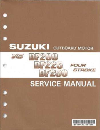 suzuki df 200 df 225 df 250 df 250s service manual 99500 93j05 01e rh brownspoint com White Suzuki Outboards White Suzuki Outboards