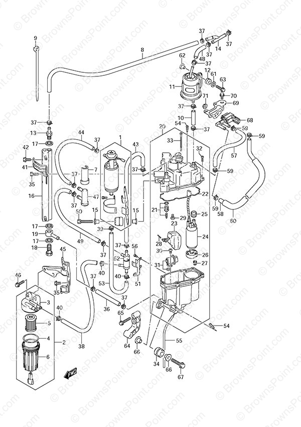 fig  13a - fuel pump  fuel vapor separator