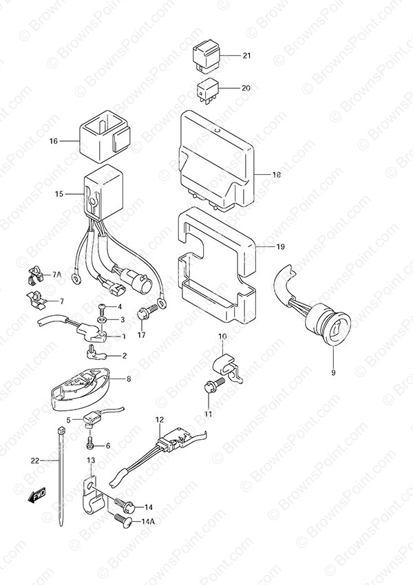 fig035 fig 35 ptt switch engine control unit suzuki df 250 parts