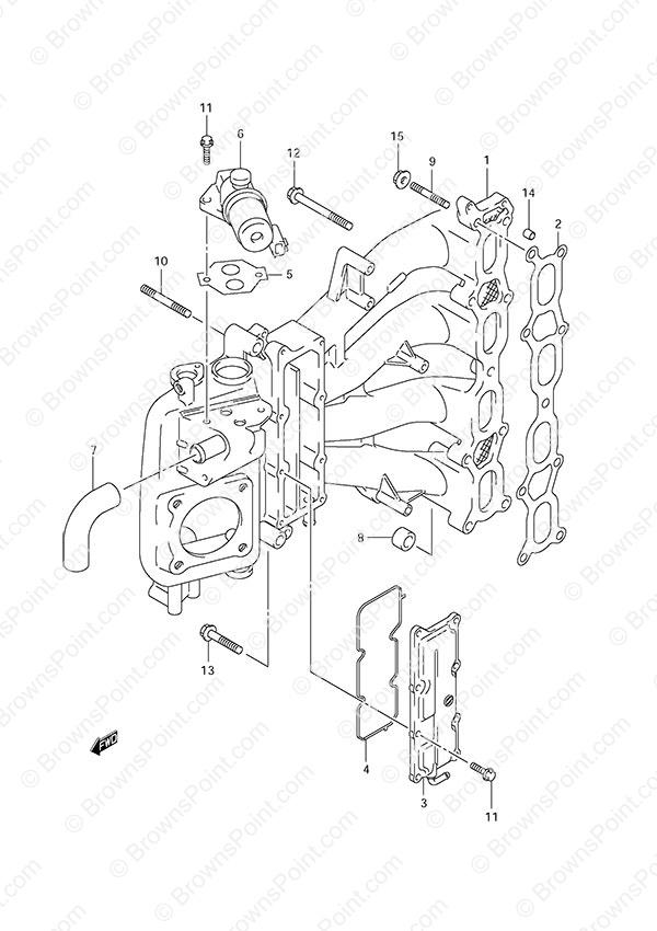 fig. 9 - intake manifold - suzuki df 115 parts listings - s/n, Wiring diagram