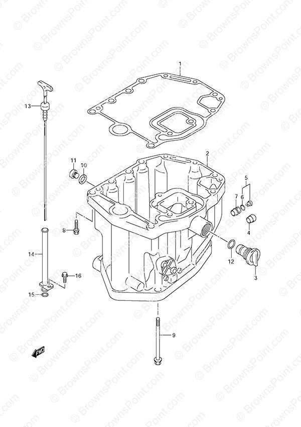 fig. 20 - oil pan - suzuki df 115 parts listings - s/n 11502f, Wiring diagram