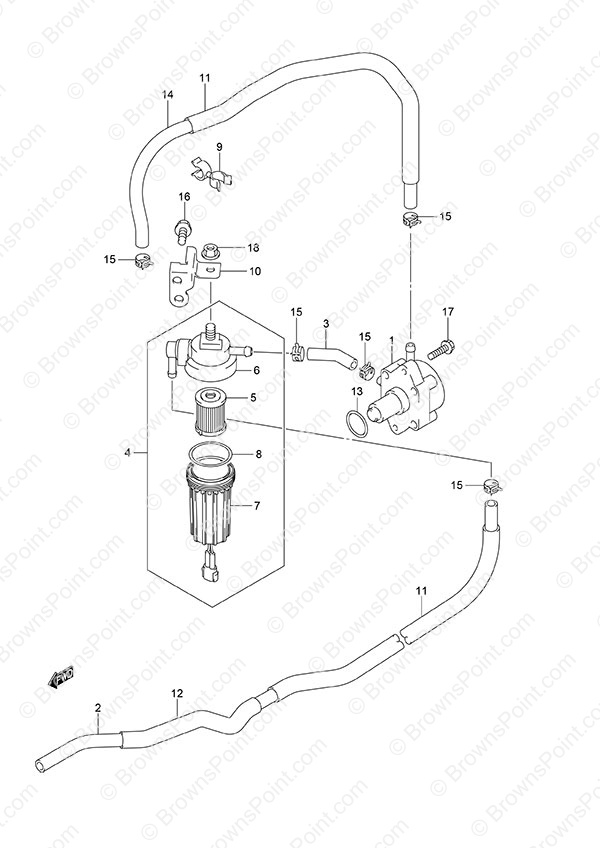 fig  15 - fuel pump - suzuki df 115a parts listings  n