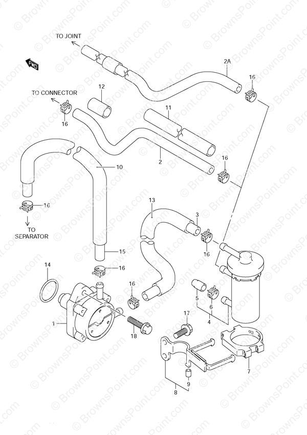 fig  12 - fuel pump - suzuki df 140 parts listings - 2002 to 2011  n 14001f