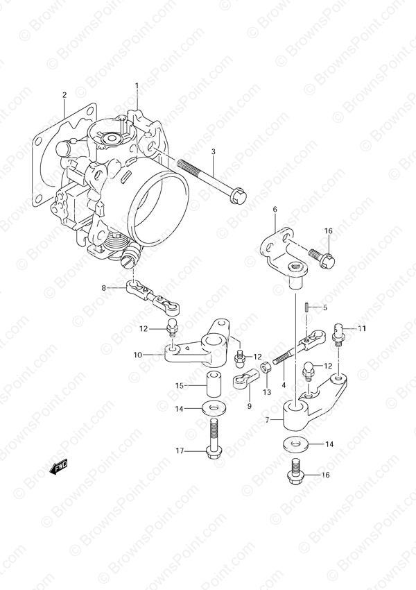 Fig 16 Throttle Body Suzuki Df 140 Parts Listings