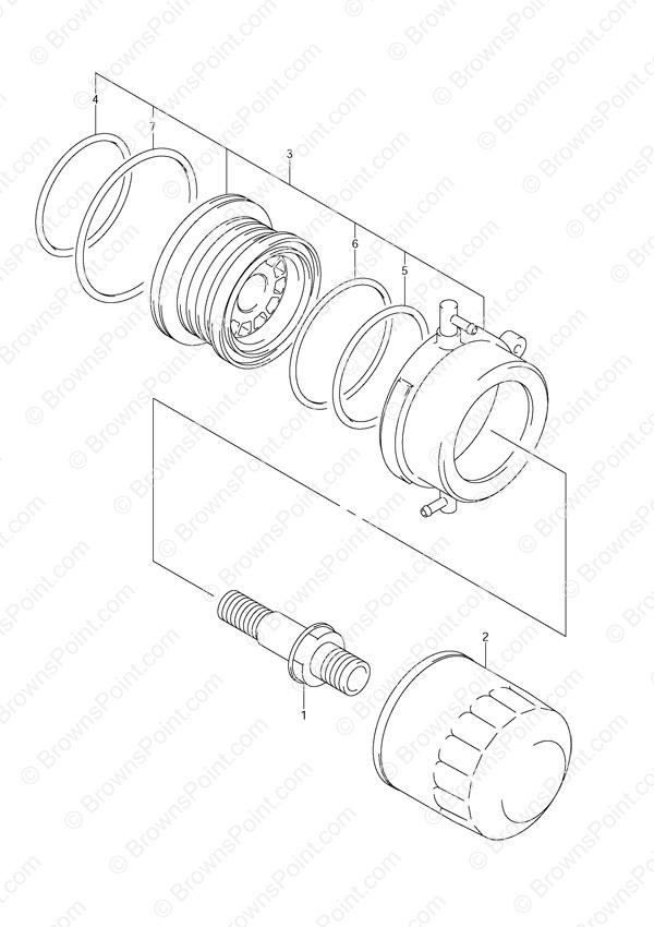 fig  18 - oil filter - suzuki df 140 parts listings - 2002 to 2011  n 14001f