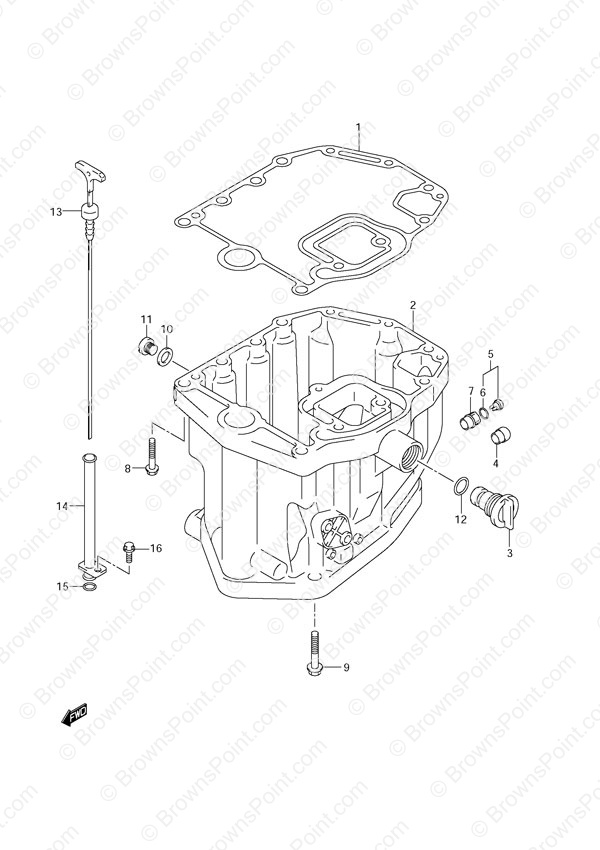 fig  19 - oil pan - suzuki df 140 parts listings