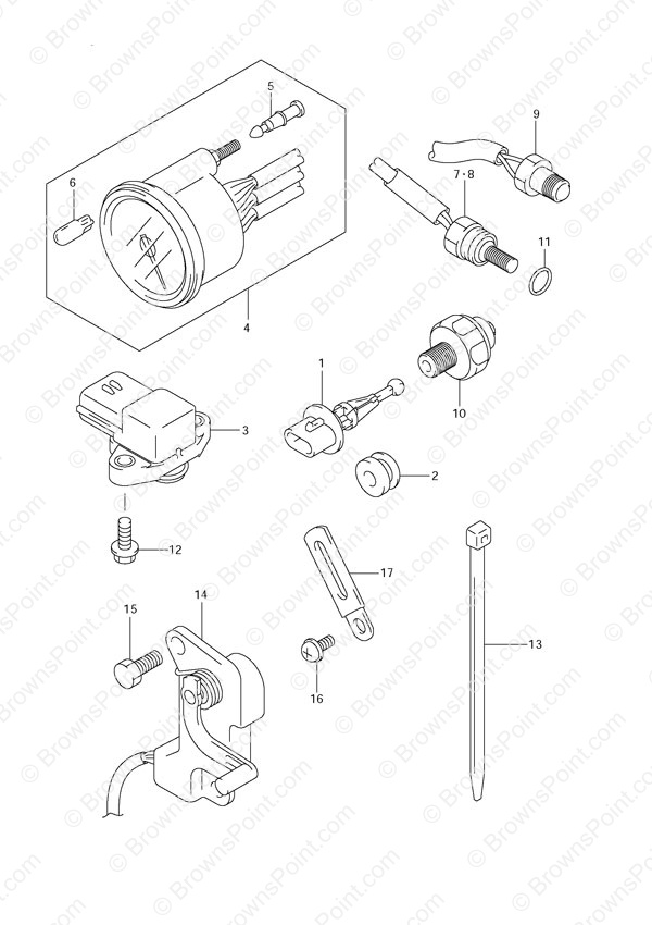 fig031 suzuki outboard parts df 140 parts listings browns point Suzuki DT40 Outboard Parts Diagrams at n-0.co