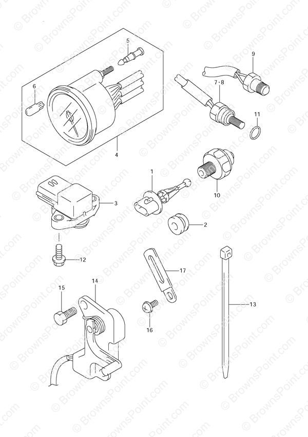 Fig  31 - Sensor - Suzuki Df 140 Parts Listings