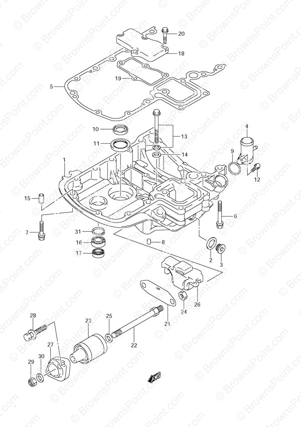 Fig 40 Engine Holder Suzuki Df 140 Parts Listings