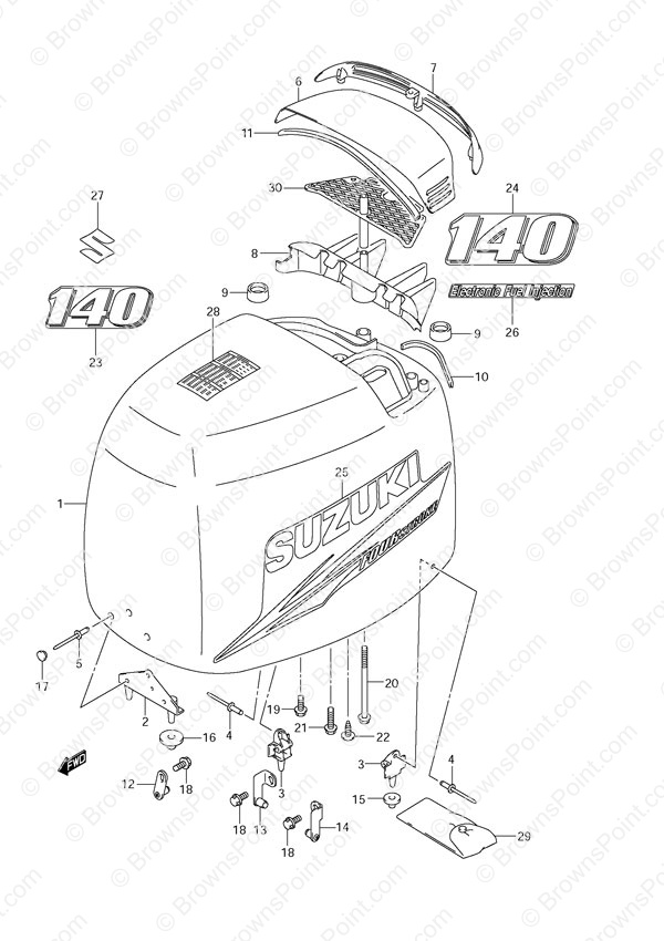 fig048a suzuki outboard parts df 140 parts listings browns point Suzuki DF140 Lower Unit Diagram at fashall.co