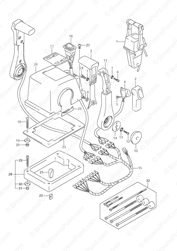 fig060 suzuki outboard parts df 140 parts listings browns point Suzuki DF140 Lower Unit Diagram at fashall.co