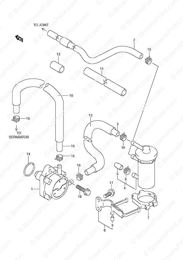 fig  11 - fuel pump - suzuki df 140 parts listings  n