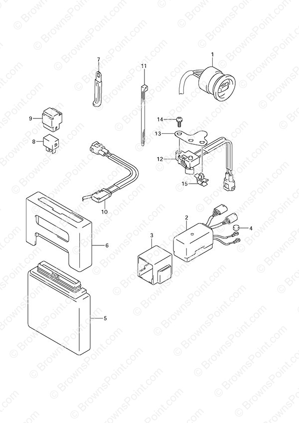 Fig 31 Ptt Switch Engine Control Unit Suzuki Df 140