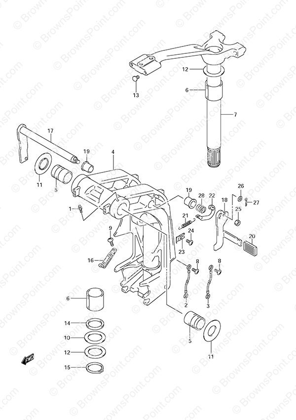 fig033 fig 33 swivel bracket suzuki df 140 parts listings s n Boat Electrical Wiring Diagrams at crackthecode.co