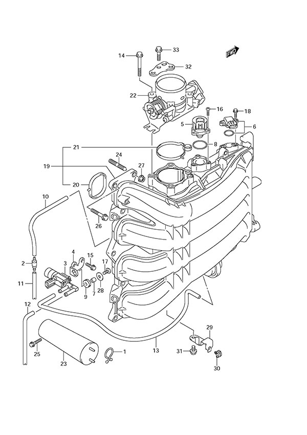 Fig 8 Intake Manifold Throttle Body Suzuki Df 150