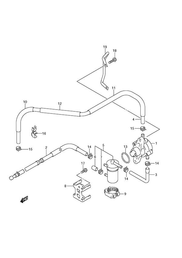fig  13 - fuel pump - suzuki df 150 parts listings