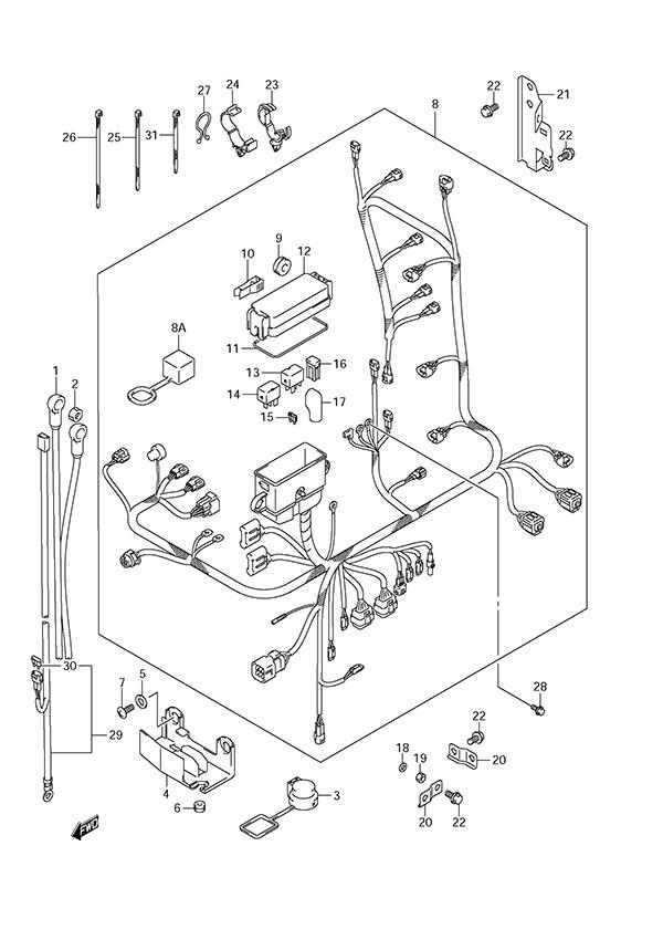 fig  29 - harness - suzuki df 175 parts listings