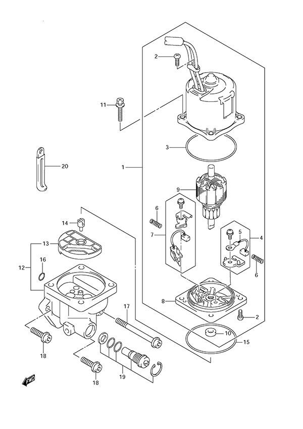 fig  34 - ptt motor - suzuki df 150 parts listings