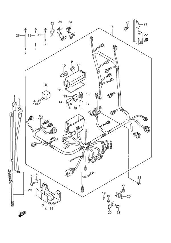 fig  59 - harness - suzuki df 150 parts listings - s  n 15002f-210001 to 15002f-21xxxx  n