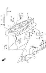 suzuki outboard parts df 150 parts listings browns point marine 2017 Suzuki XL7 suzuki df 150 fig 407a gear case