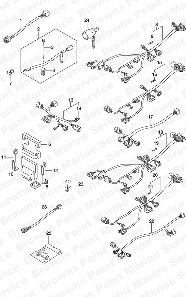 fig  522 - opt  harness  1  - suzuki df 200ap parts listings - 2015  n 20003p