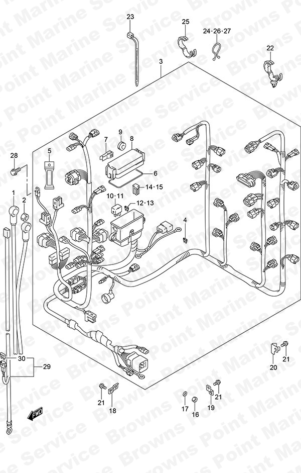 fig  23 - harness - suzuki df 300ap parts listings - 2014  n 30002p