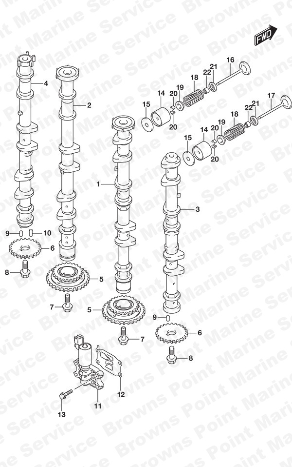 fig  121 - camshaft - suzuki df 300ap parts listings - 2017  n 30002p
