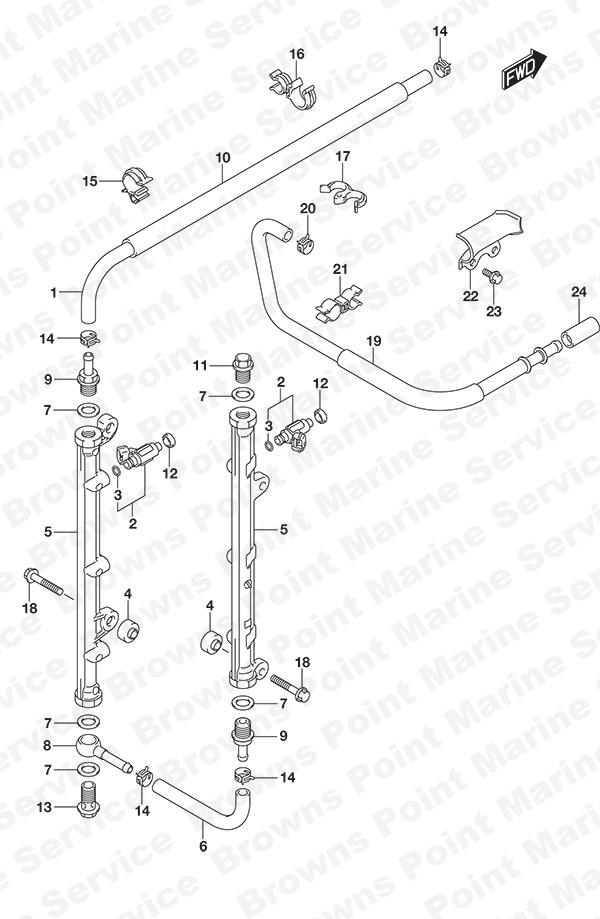 fig  144 - fuel injector - suzuki df 300ap parts listings - 2017  n 30002p