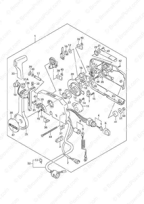 fig  42 - remote control box - suzuki df 30 parts listings - 2007  n 03001f