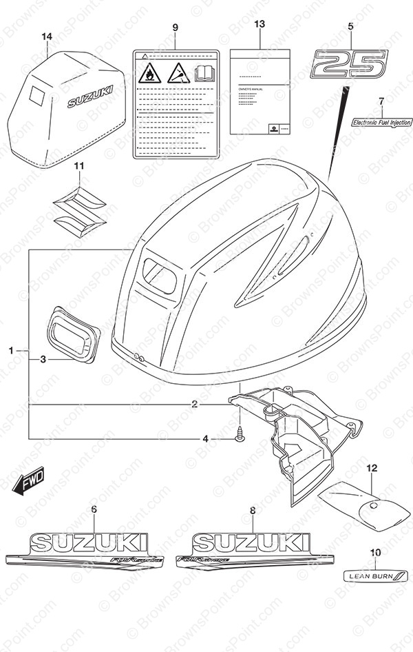 fig 420a engine cover non remote control suzuki df 25a parts rh brownspoint com 420a engine wiring diagram