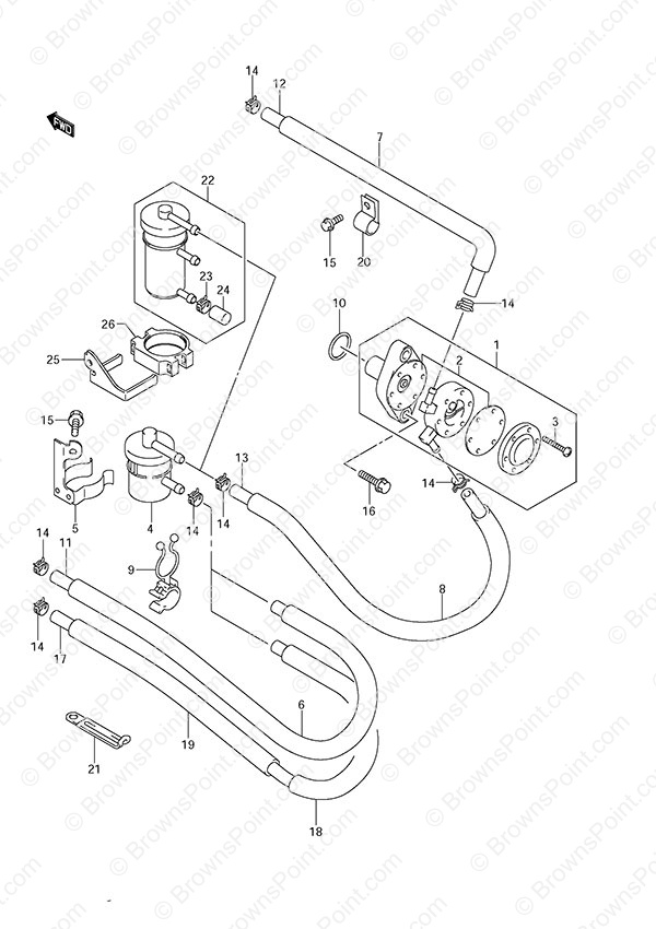 fig  14 - fuel pump - suzuki df 50 parts listings