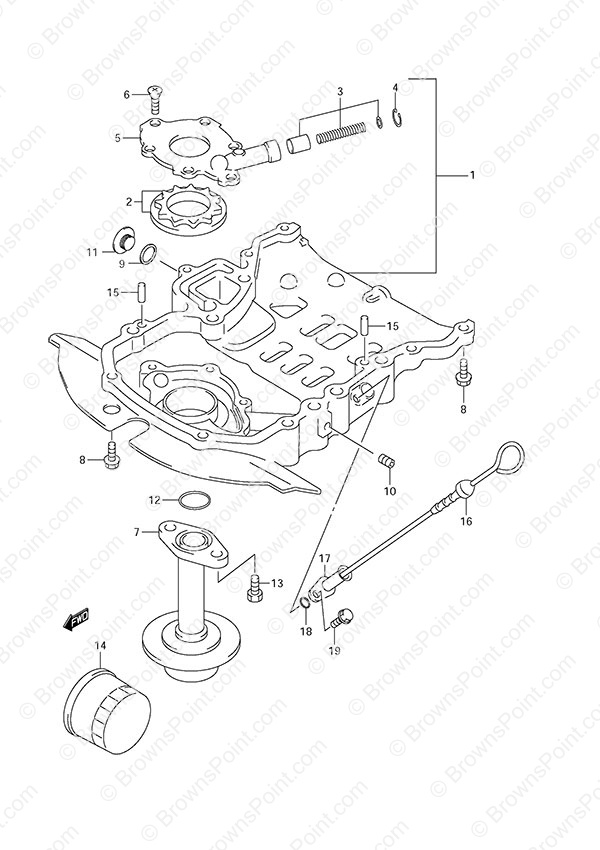fig  18 - oil pump - suzuki df 50 parts listings