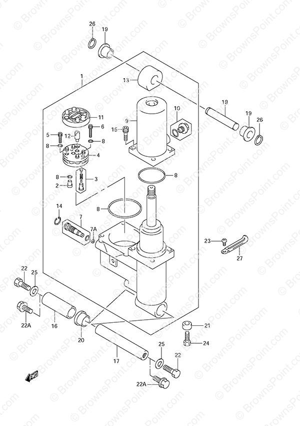 fig  42 - power trim - suzuki df 50 parts listings