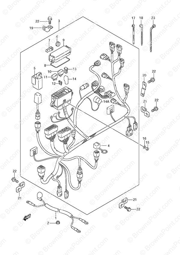 fig  24 - harness - suzuki df 40a parts listings