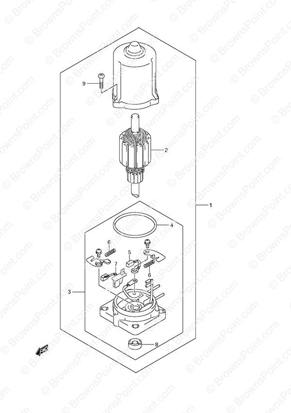 fig  44 - ptt motor - suzuki df 50a parts listings - 2012  n 05003f