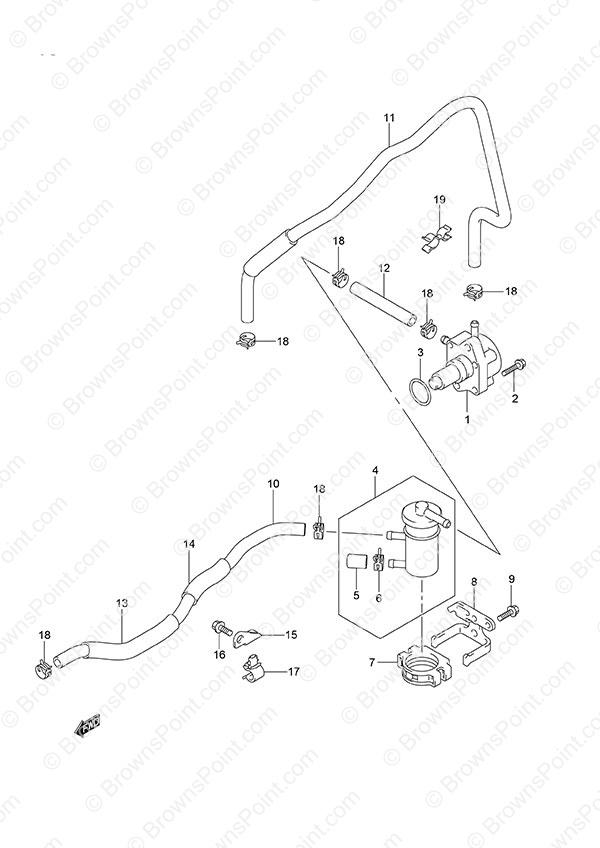 fig  18 - fuel pump - suzuki df 40a parts listings
