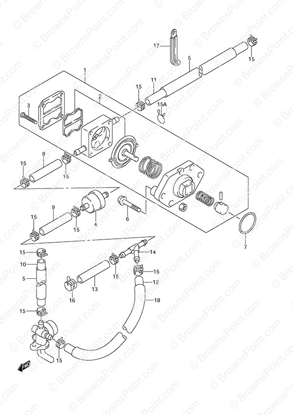 fig  12 - fuel pump - suzuki df 6 parts listings