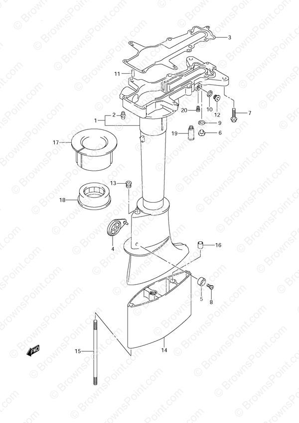 Fig. 20 - Drive Shaft Housing - Suzuki DF 6 Parts Listings - 2012 ...