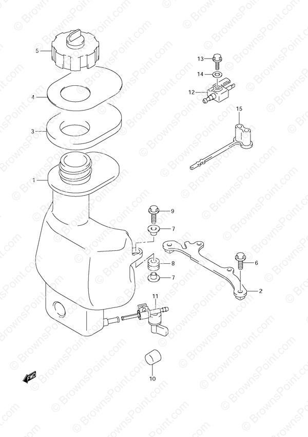 Fig  28 - Fuel Tank - Suzuki DF 6 Parts Listings - 2012 - S