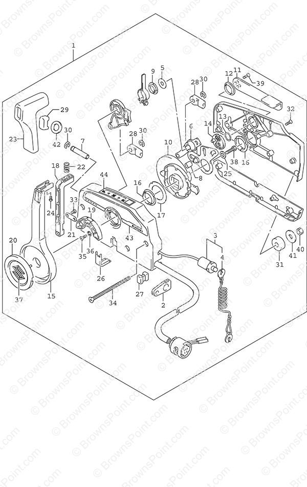 fig  508 - opt  remote control - suzuki df 4 parts listings - 2015  n 00402f