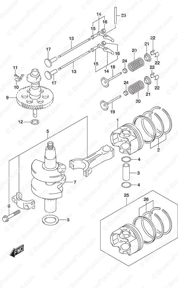fig  116 - crankshaft - suzuki df 6a parts listings