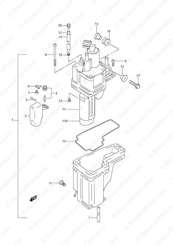 Fig 14 Fuel Vapor Separator Suzuki Df 70 Parts
