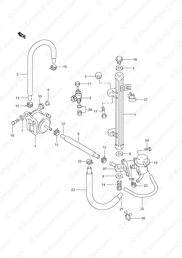 Diagram Of 1999 Df70 Suzuki Marine Outboard Fuel Injector Diagram