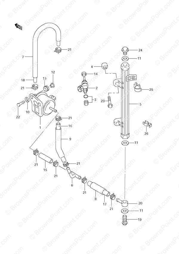 fig  18 - fuel injector - suzuki df 70 parts listings  n 972016 to 2008