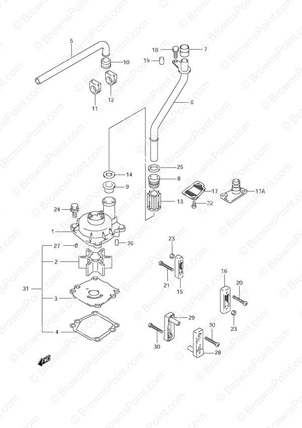fig  20 - water pump - suzuki df 70 parts listings