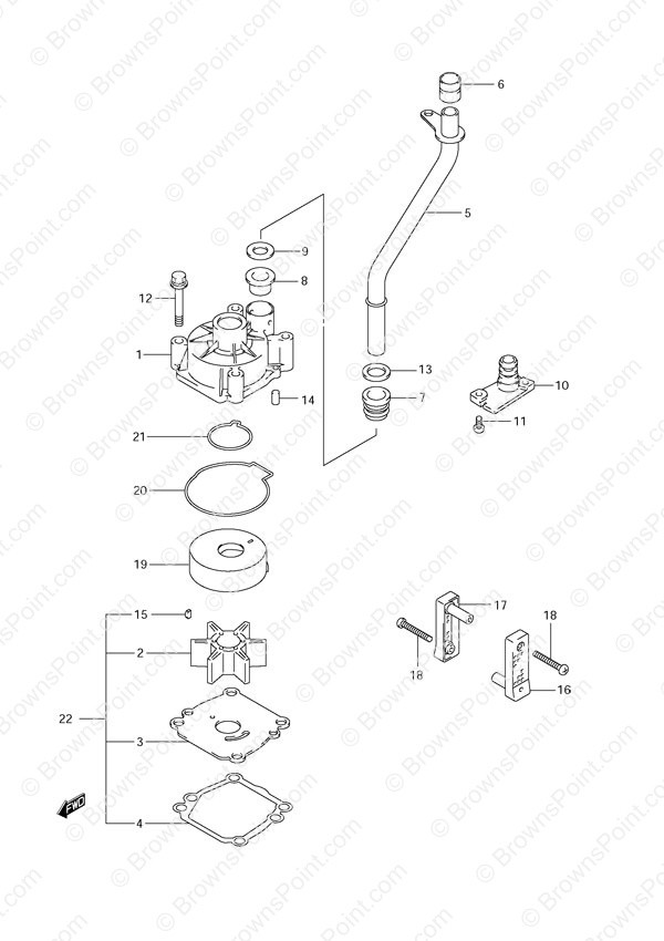 fig  20a - water pump - suzuki df 60 parts listings