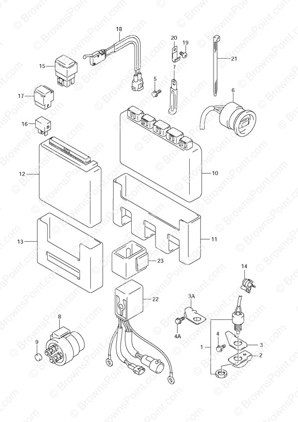 1989 mercury outboard wiring schematic fig  34 engine control unit suzuki df 70 parts  fig  34 engine control unit suzuki df 70 parts