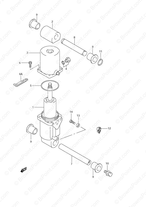 fig  38 - trim cylinder - suzuki df 70 parts listings